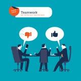 Пузырь речи мира сделанный от диалога предпринимателей Стоковое фото RF