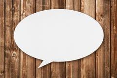 Пузырь речи на древесине Стоковые Фото