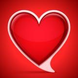 Пузырь речи сердца форменный Стоковое Изображение RF