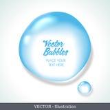 Пузырь речи сформированный от воды. Стоковые Фотографии RF