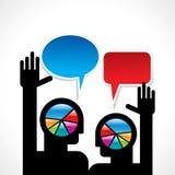 Пузырь речи с человеком 2 Стоковое Фото
