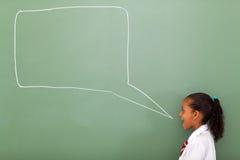 Пузырь речи школьницы Стоковые Изображения RF