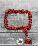 Пузырь речи ягоды Goji Стоковые Фото