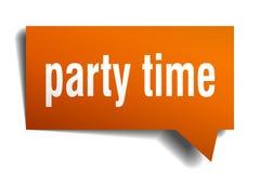 Пузырь речи 3d времени партии оранжевый Стоковое Изображение