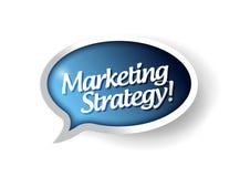 Пузырь связи сообщения маркетинговой стратегии иллюстрация штока