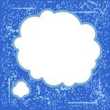 Пузырь сини Grunge Стоковое Изображение