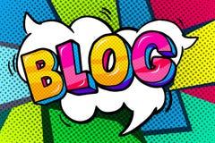 Пузырь слова блога иллюстрация вектора