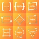 Пузырь текста цитаты квадрата речи абстрактного вектора концепции пустой Для сети и передвижного app на предпосылке Стоковая Фотография