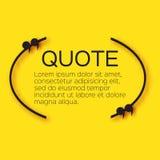 Пузырь цитаты Пустой шаблон текстового поля цитации Стоковое Фото