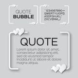 Пузырь цитаты с сердцами Пузырь речи валентинки Стоковые Изображения