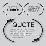 Пузырь цитаты Стоковые Изображения RF