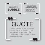 Пузырь цитаты Стоковое Изображение RF