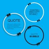 Пузырь цитаты Стоковое Изображение