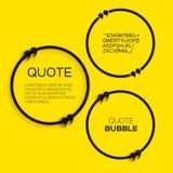 Пузырь цитаты Стоковые Фото