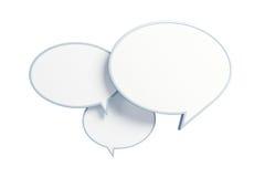 пузырь 3d представляет беседу Стоковое Фото