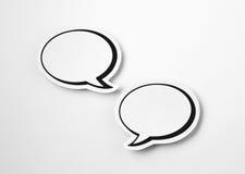 2 пузыря речи белой бумаги Стоковое Изображение RF