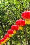 Красные фонарики Стоковая Фотография