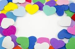 Пук бумажных сердец на предпосылке wite Стоковые Изображения RF
