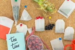 Пук висеть пакетиков чая стоковое изображение