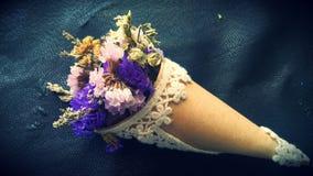 Пук высушенных цветков Statice Стоковое фото RF