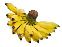 Пук излишек зрелого банана изолированного на белой предпосылке Стоковые Фотографии RF