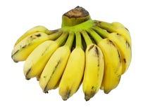 Пук излишек зрелого банана изолированного на белой предпосылке Стоковые Изображения RF