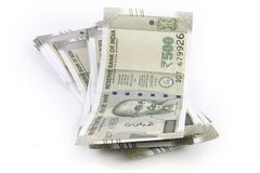 Пук индийских рупий Стоковые Фотографии RF