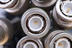 Пук кабелей с соединителями BNC Стоковые Изображения RF