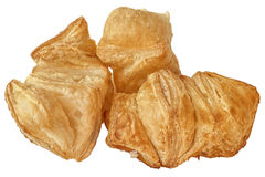 Пук квадратного печенья слойки круассана сезама изолированного на w Стоковое Фото