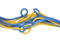 Пук красочных электрических кабелей Стоковое Изображение