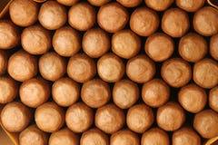 Пук кубинських сигар с тенями Стоковые Фотографии RF