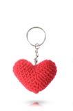 Пук ключа сделанный от сердца тканью Стоковое Изображение