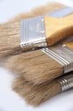 Пук новых щеток для красить и красить Стоковые Изображения