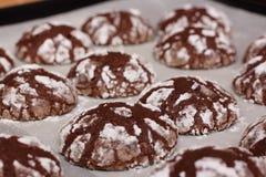 Пук домодельных печений шоколада Стоковая Фотография