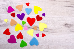Пук пестротканых сердец Стоковое Изображение RF