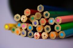 Пук покрашенных карандашей стоковое фото rf
