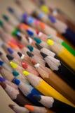 Пук покрашенных карандашей стоковая фотография rf
