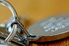 пук пользуется ключом белизна Стоковые Фотографии RF