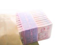 Пук примечаний тайского бата Стоковое Изображение RF