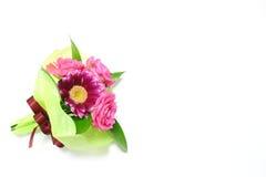 Пук розы и gerbera пинка в белом #2 стоковые фото