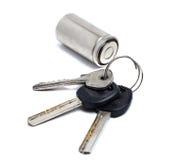 Пук старых ключей и батареи Стоковые Изображения