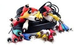 Пук тональнозвуковых видео- кабелей Стоковое фото RF