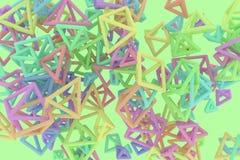 Пук треугольника или квадрата, летания, блокировать, для текстуры дизайна & предпосылки r иллюстрация вектора