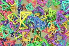 Пук треугольника или квадрата, летания, блокировать, для текстуры дизайна & предпосылки r иллюстрация штока