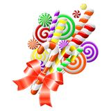 Пук цветастых конфет Стоковое фото RF