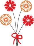 пук цветет померанцовый красный цвет малюсенький Стоковые Изображения RF