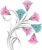 Пук цветка вектора причудливый Стоковые Изображения