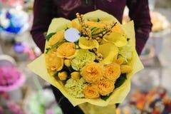 Пук цветков желтого цвета смешивания Стоковое Фото