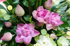 Пук цветков лотоса wedding украшение Стоковая Фотография RF