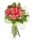 Пук цветков розы пинка изолированных на белизне стоковые изображения